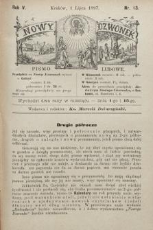 Nowy Dzwonek : pismo ludowe. 1897, nr13