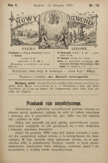 Nowy Dzwonek : pismo ludowe. 1897, nr16