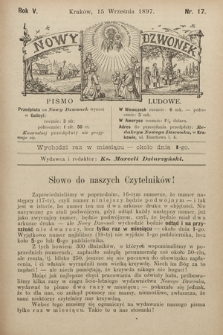 Nowy Dzwonek : pismo ludowe. 1897, nr17