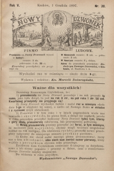 Nowy Dzwonek : pismo ludowe. 1897, nr20