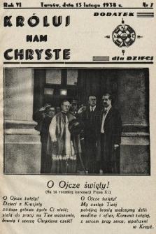 Króluj nam Chryste : dodatek dla dzieci. 1938, nr7