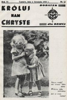 Króluj nam Chryste : dodatek dla dzieci. 1938, nr45