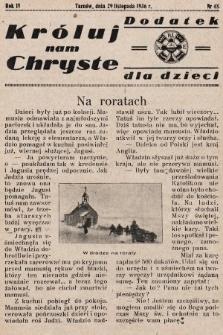 Króluj nam Chryste : dodatek dla dzieci. 1936, nr 48