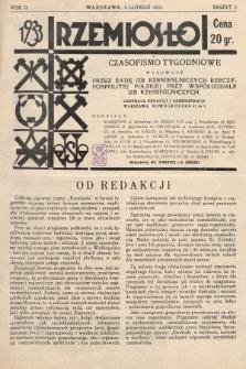 Rzemiosło : czasopismo tygodniowe wydawane przez Radę Izb Rzemieślniczych Rzeczypospolitej Polskiej przy współudziale Izb Rzemieślniczych. 1933, z. 1