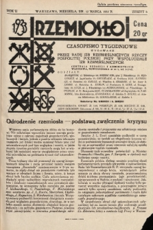 Rzemiosło : czasopismo tygodniowe wydawane przez Radę Izb Rzemieślniczych Rzeczypospolitej Polskiej przy współudziale Izb Rzemieślniczych. 1933, z. 6