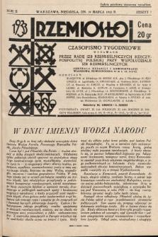 Rzemiosło : czasopismo tygodniowe wydawane przez Radę Izb Rzemieślniczych Rzeczypospolitej Polskiej przy współudziale Izb Rzemieślniczych. 1933, z. 7