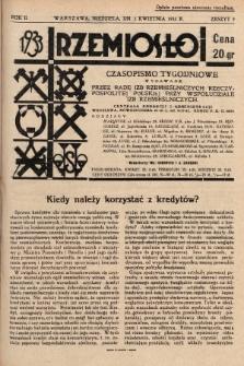 Rzemiosło : czasopismo tygodniowe wydawane przez Radę Izb Rzemieślniczych Rzeczypospolitej Polskiej przy współudziale Izb Rzemieślniczych. 1933, z. 9