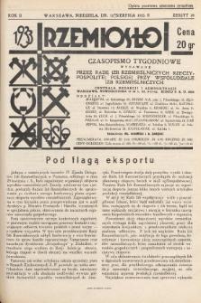 Rzemiosło : czasopismo tygodniowe wydawane przez Radę Izb Rzemieślniczych Rzeczypospolitej Polskiej przy współudziale Izb Rzemieślniczych. 1933, z. 28