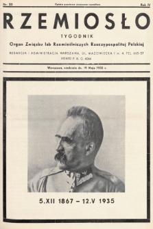 Rzemiosło : organ Związku Izb Rzemieślniczych Rzeczypospolitej Polskiej. 1935, nr 20