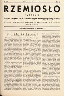 Rzemiosło : organ Związku Izb Rzemieślniczych Rzeczypospolitej Polskiej. 1935, nr 21