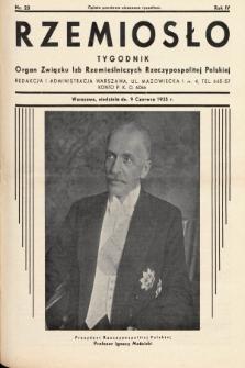 Rzemiosło : organ Związku Izb Rzemieślniczych Rzeczypospolitej Polskiej. 1935, nr 23