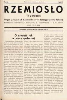 Rzemiosło : organ Związku Izb Rzemieślniczych Rzeczypospolitej Polskiej. 1935, nr 24