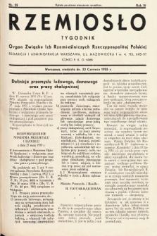 Rzemiosło : organ Związku Izb Rzemieślniczych Rzeczypospolitej Polskiej. 1935, nr 25