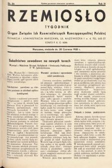 Rzemiosło : organ Związku Izb Rzemieślniczych Rzeczypospolitej Polskiej. 1935, nr 26