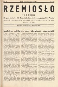 Rzemiosło : organ Związku Izb Rzemieślniczych Rzeczypospolitej Polskiej. 1935, nr 36