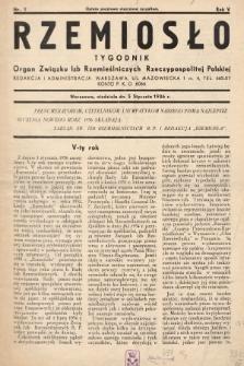 Rzemiosło : organ Związku Izb Rzemieślniczych Rzeczypospolitej Polskiej. 1936, nr1
