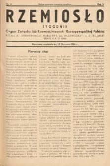 Rzemiosło : organ Związku Izb Rzemieślniczych Rzeczypospolitej Polskiej. 1936, nr3