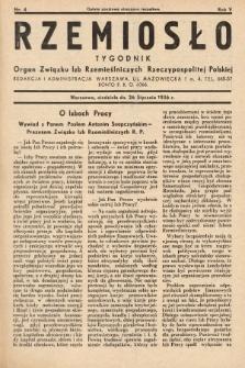 Rzemiosło : organ Związku Izb Rzemieślniczych Rzeczypospolitej Polskiej. 1936, nr4