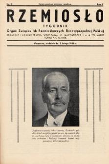 Rzemiosło : organ Związku Izb Rzemieślniczych Rzeczypospolitej Polskiej. 1936, nr5