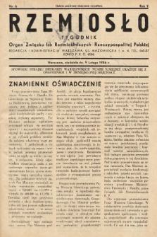 Rzemiosło : organ Związku Izb Rzemieślniczych Rzeczypospolitej Polskiej. 1936, nr6