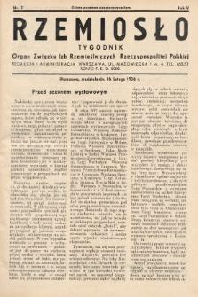 Rzemiosło : organ Związku Izb Rzemieślniczych Rzeczypospolitej Polskiej. 1936, nr7