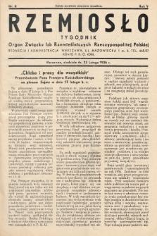 Rzemiosło : organ Związku Izb Rzemieślniczych Rzeczypospolitej Polskiej. 1936, nr8