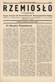 Rzemiosło : organ Związku Izb Rzemieślniczych Rzeczypospolitej Polskiej. 1936, nr10