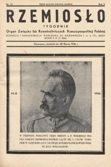 Rzemiosło : organ Związku Izb Rzemieślniczych Rzeczypospolitej Polskiej. 1936, nr12