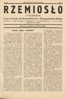 Rzemiosło : organ Związku Izb Rzemieślniczych Rzeczypospolitej Polskiej. 1936, nr13