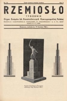 Rzemiosło : organ Związku Izb Rzemieślniczych Rzeczypospolitej Polskiej. 1936, nr16