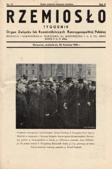 Rzemiosło : organ Związku Izb Rzemieślniczych Rzeczypospolitej Polskiej. 1936, nr17