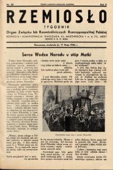 Rzemiosło : organ Związku Izb Rzemieślniczych Rzeczypospolitej Polskiej. 1936, nr20