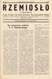 Rzemiosło : organ Związku Izb Rzemieślniczych Rzeczypospolitej Polskiej. 1936, nr23
