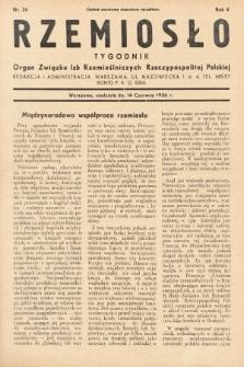 Rzemiosło : organ Związku Izb Rzemieślniczych Rzeczypospolitej Polskiej. 1936, nr24