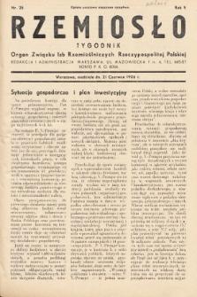Rzemiosło : organ Związku Izb Rzemieślniczych Rzeczypospolitej Polskiej. 1936, nr25