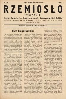 Rzemiosło : organ Związku Izb Rzemieślniczych Rzeczypospolitej Polskiej. 1936, nr26