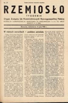 Rzemiosło : organ Związku Izb Rzemieślniczych Rzeczypospolitej Polskiej. 1936, nr27