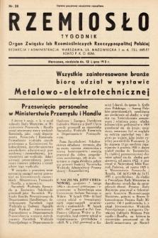 Rzemiosło : organ Związku Izb Rzemieślniczych Rzeczypospolitej Polskiej. 1936, nr28