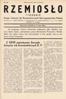 Rzemiosło : organ Związku Izb Rzemieślniczych Rzeczypospolitej Polskiej. 1936, nr29