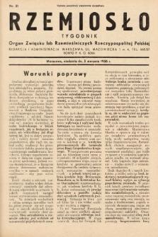 Rzemiosło : organ Związku Izb Rzemieślniczych Rzeczypospolitej Polskiej. 1936, nr31
