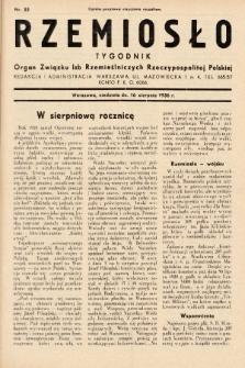 Rzemiosło : organ Związku Izb Rzemieślniczych Rzeczypospolitej Polskiej. 1936, nr33