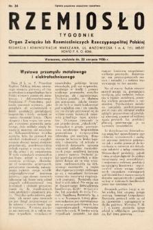 Rzemiosło : organ Związku Izb Rzemieślniczych Rzeczypospolitej Polskiej. 1936, nr34