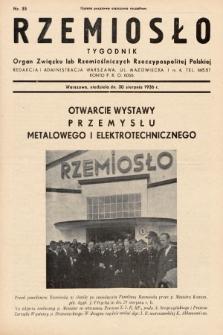 Rzemiosło : organ Związku Izb Rzemieślniczych Rzeczypospolitej Polskiej. 1936, nr35