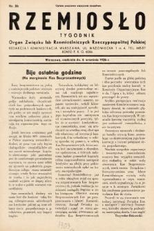 Rzemiosło : organ Związku Izb Rzemieślniczych Rzeczypospolitej Polskiej. 1936, nr36