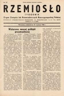 Rzemiosło : organ Związku Izb Rzemieślniczych Rzeczypospolitej Polskiej. 1936, nr37