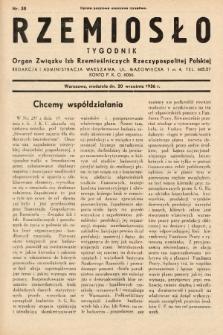 Rzemiosło : organ Związku Izb Rzemieślniczych Rzeczypospolitej Polskiej. 1936, nr38