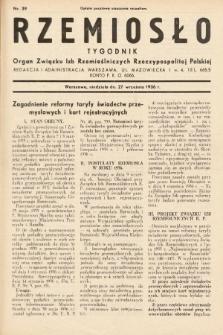 Rzemiosło : organ Związku Izb Rzemieślniczych Rzeczypospolitej Polskiej. 1936, nr39