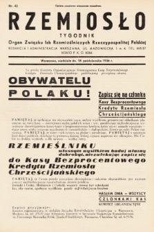 Rzemiosło : organ Związku Izb Rzemieślniczych Rzeczypospolitej Polskiej. 1936, nr42