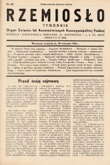 Rzemiosło : organ Związku Izb Rzemieślniczych Rzeczypospolitej Polskiej. 1936, nr48