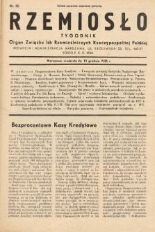 Rzemiosło : organ Związku Izb Rzemieślniczych Rzeczypospolitej Polskiej. 1936, nr50